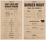 Table 9 Burger Night Menus by Madi Wrisk