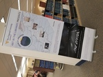 The Divide Exhibit Poster - Art in the Libraries Banner by Sally Brown